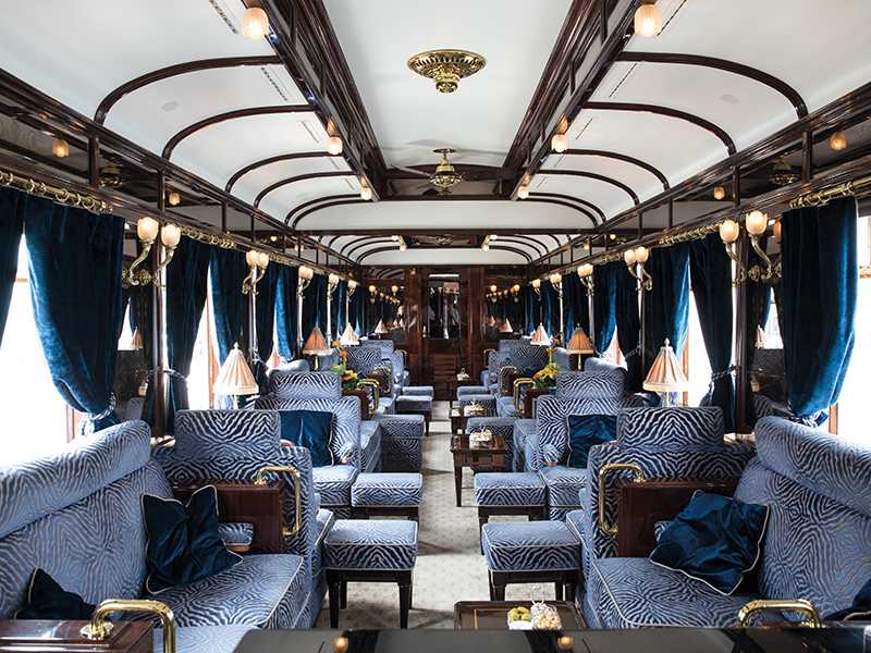 The interior of the Venice Simplon-Orient-Express