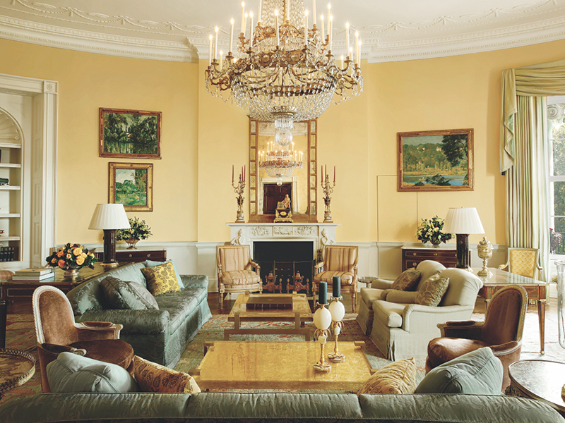 The White House's Yellow Oval Room