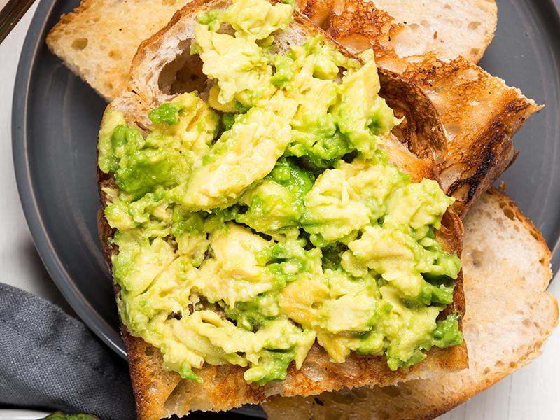 avocado on sourdough bread