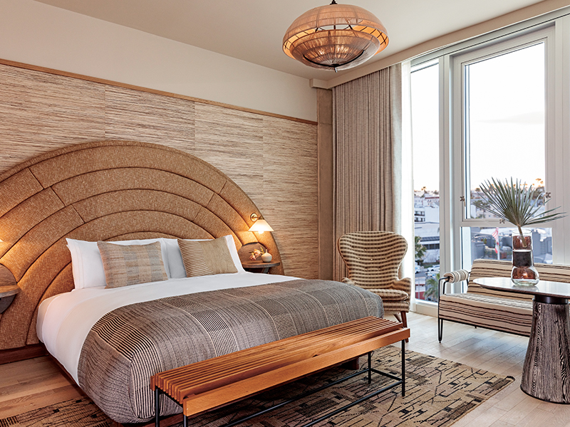 Deluxe King room at the Santa Monica Proper hotel