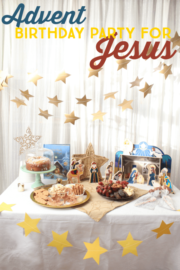 Christmas birthday party for Jesus | Activities, snacks, and party planning for a one-of-a-kind Christmas party for kids! | Experience the Nativity story in a whole new way. #advent #nativity #christmasparty