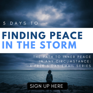 Find peace in your storm
