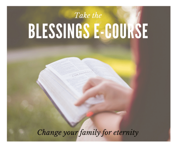 Take the Blessings e-Course!