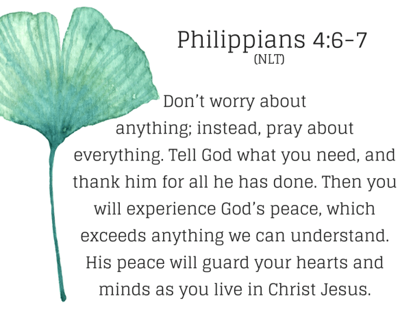 Do not be afraid verses: Philippians 4:7-8