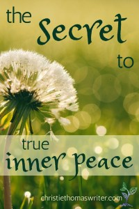 The secret to true inner peace