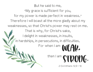2 Corinthians weak strong