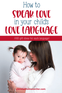 Lavish love on your child this holiday with these love language gift ideas for kids Specific love language gifts for kids will fill your child's love tank whether they are toddler, preschooler, elementary, or teen! These ideas are perfect for Christmas, Valentines Day, Easter, and everyday gifts. | Valentines Day gifts for kids from parents. #Lovelanguages #Valentines #Christianparenting