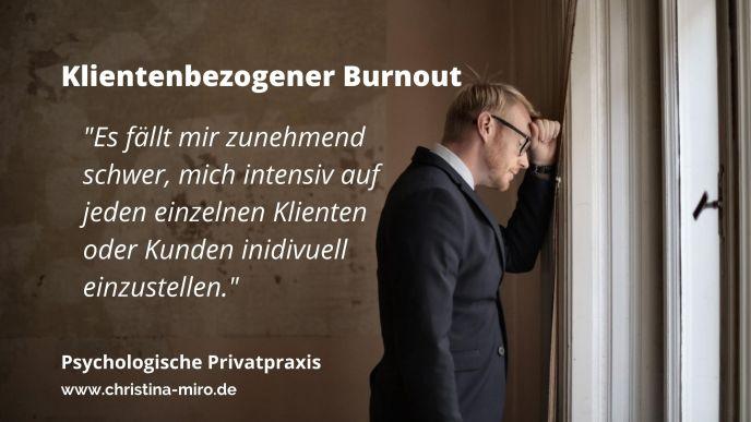 Klientenbezogener Burnout - Psychologische Online Beratung