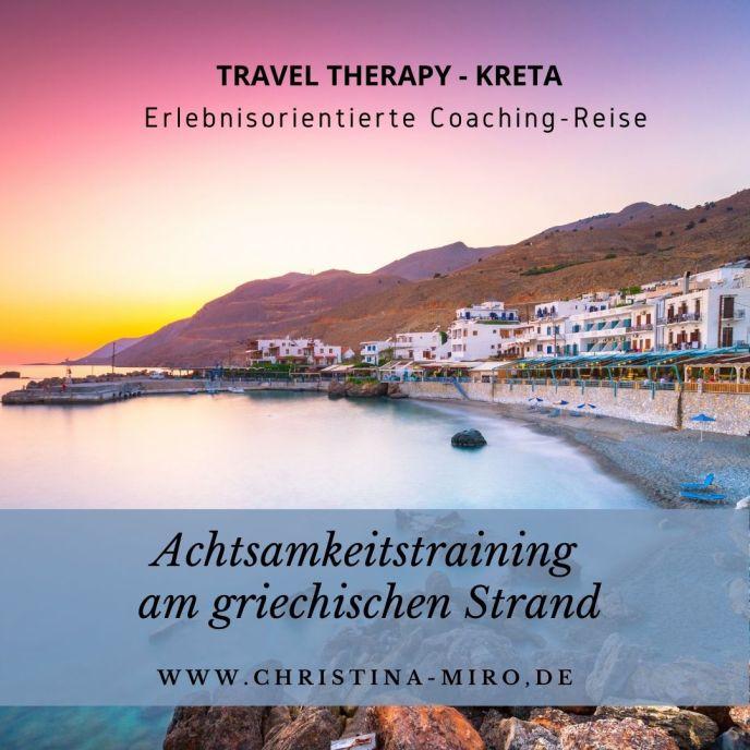 Achtsamkeitstraining am Strand - Travel Therapy - Kreta