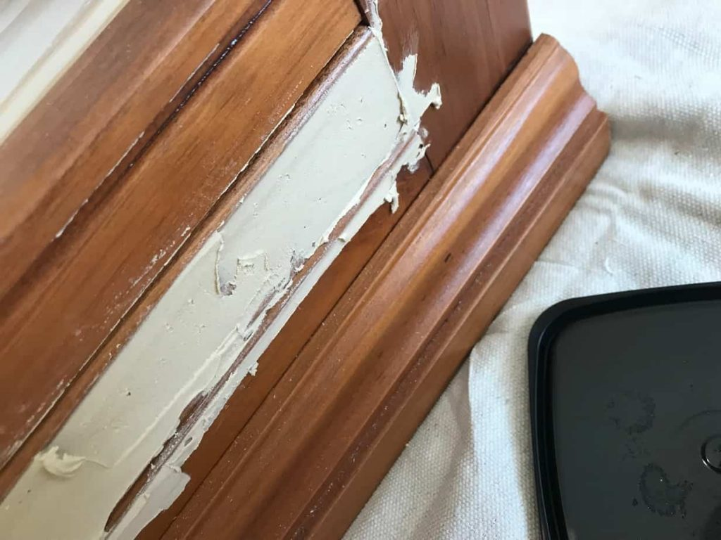 Wood filler added.