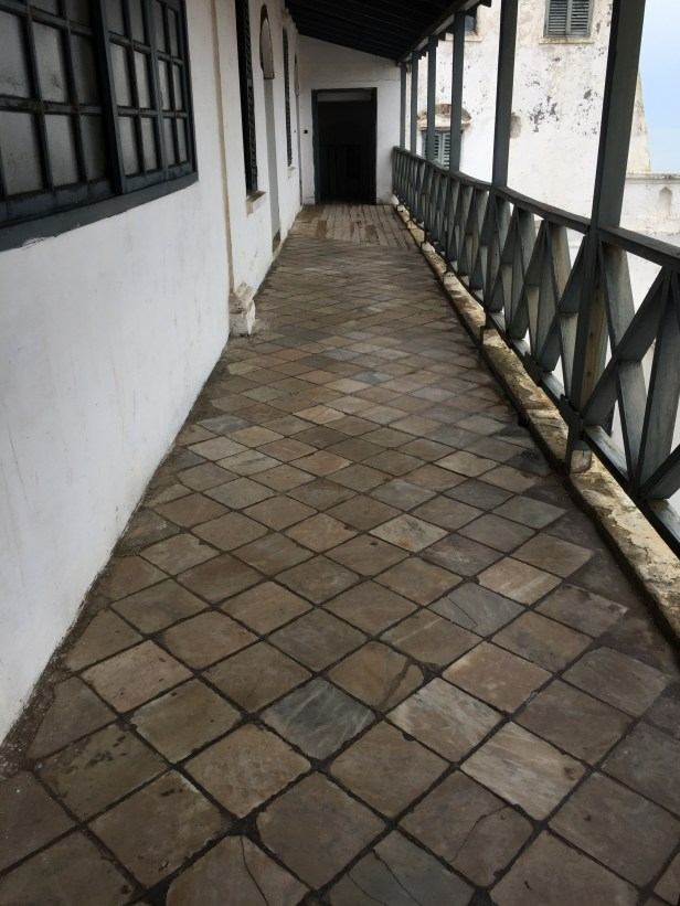 Marble floors in the officers' quarters at Cape Coast Castle