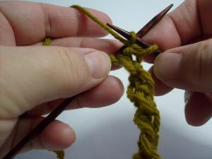 sl1 with yarn in front