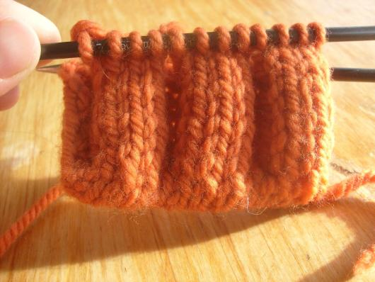 Some 4/4 ribbing I prepared according to Ysolda's method