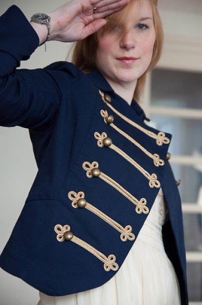 Veste officier bleu marine femme