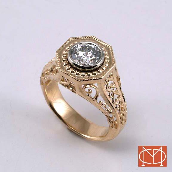 Filigree & Diamond ring