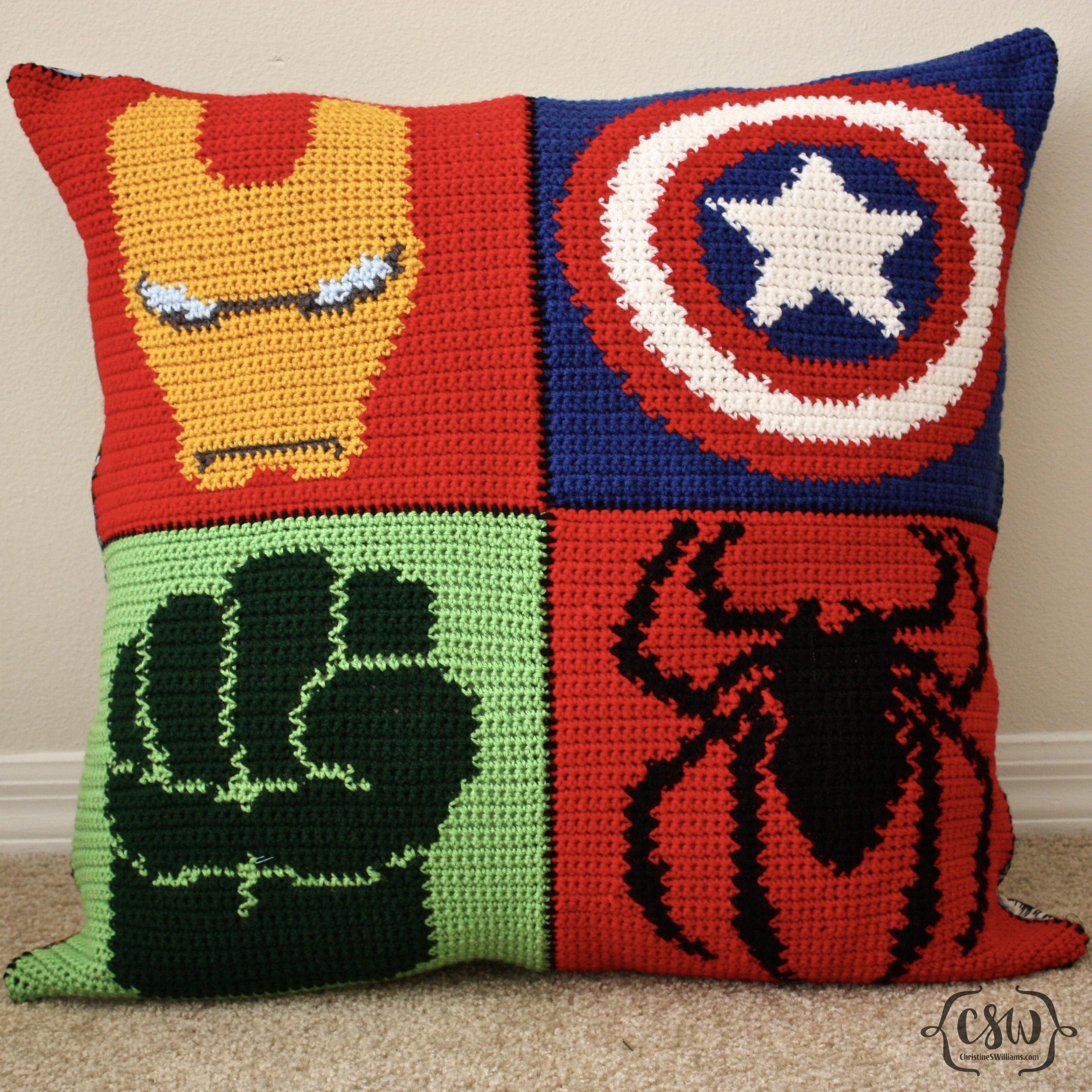 Marvel Superhero Pillow Colorful Christine