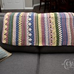 Boho Striped Baby Blanket Colorful Christine