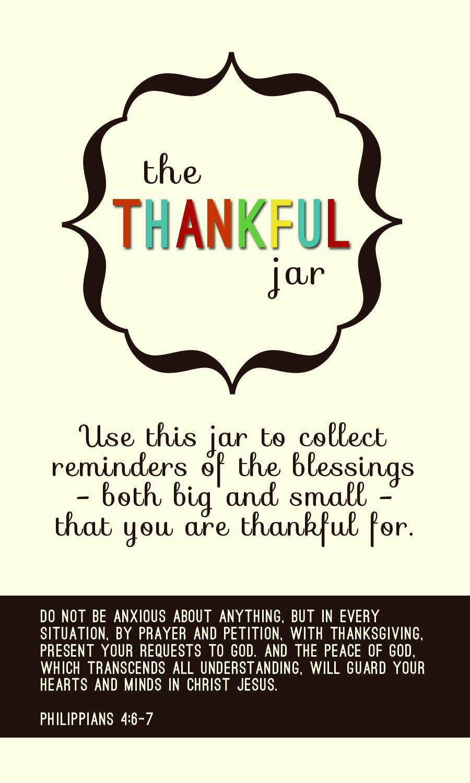 The Thankful Jar | Tutorial & Printables | Christine Trevino