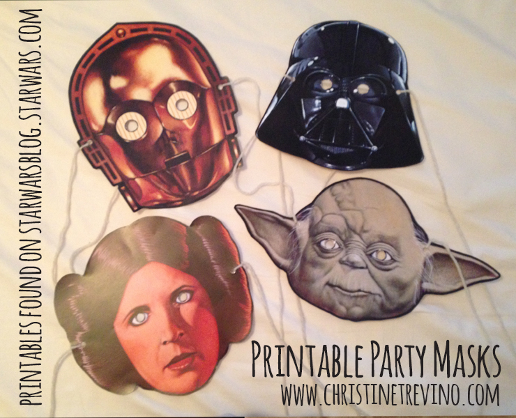 Printable Party Masks