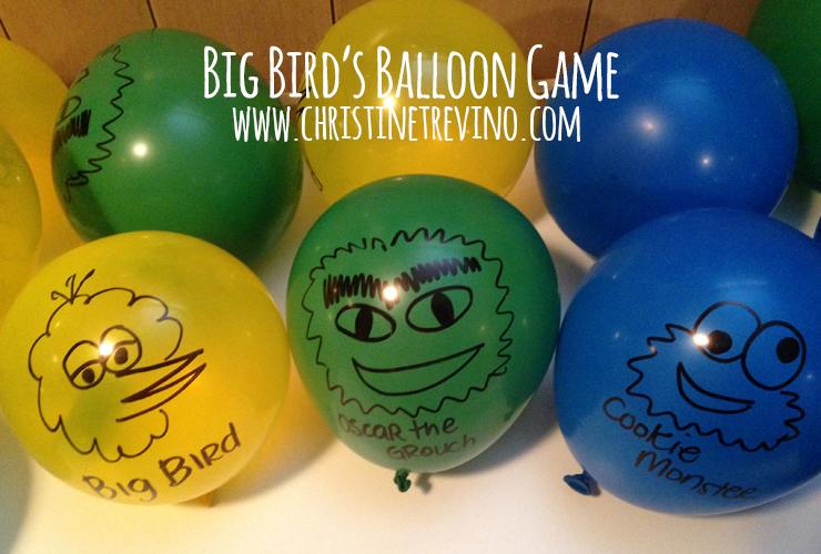 Big Bird's Balloon Game