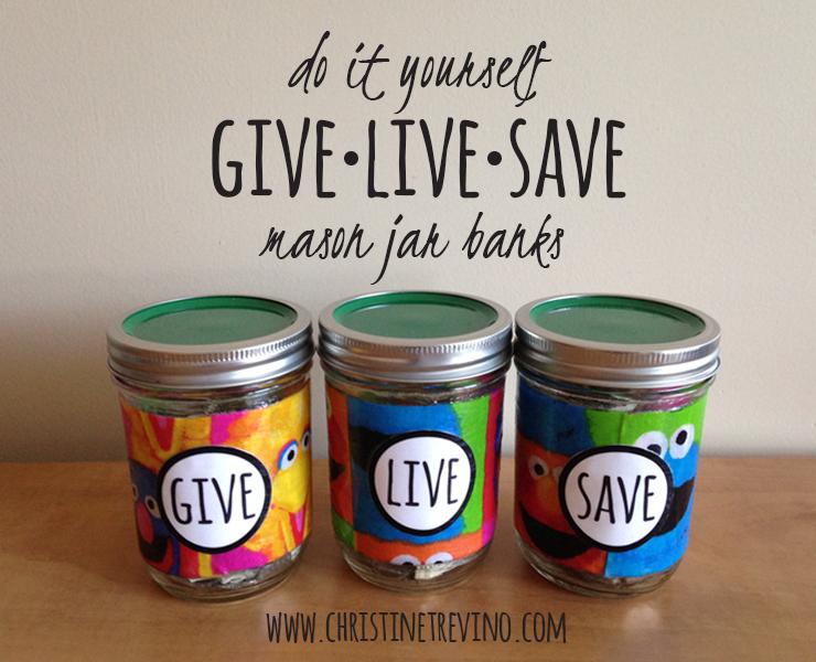 Give-Live-Save | Sesame Street Mason Jar Banks