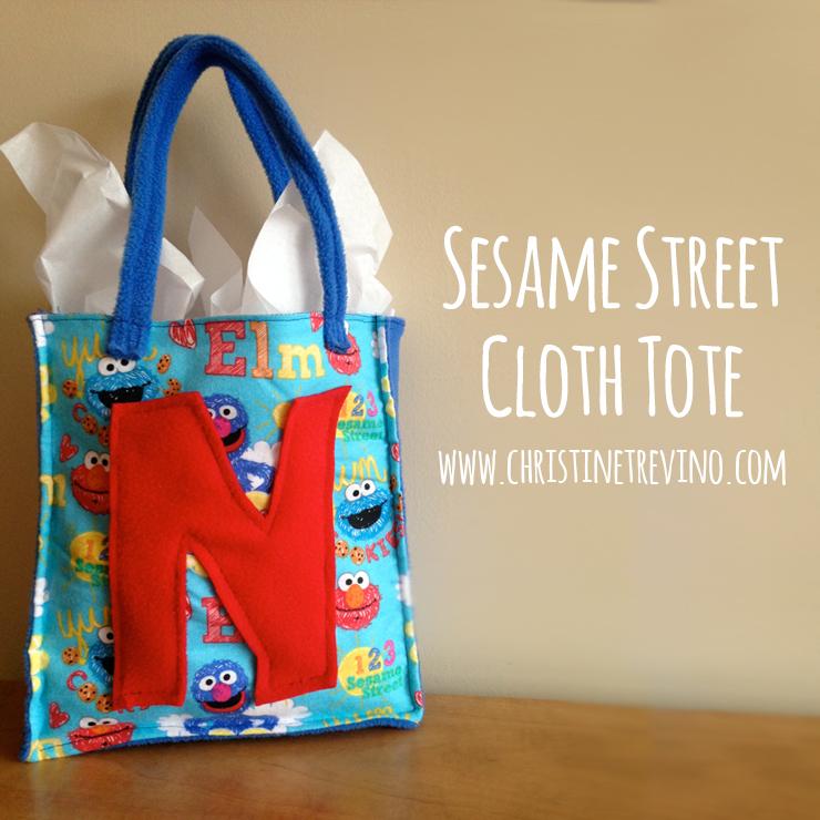 Sesame Street Cloth Tote