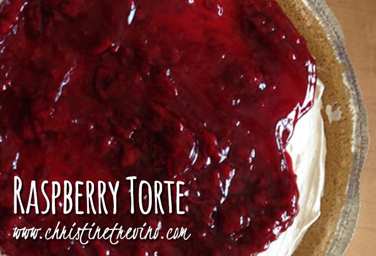 Raspberry variation of Mom Trevino's Cherry Torte