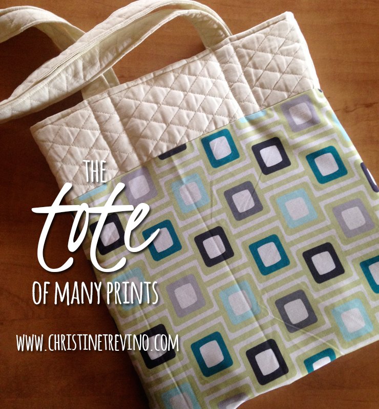Tote of many prints