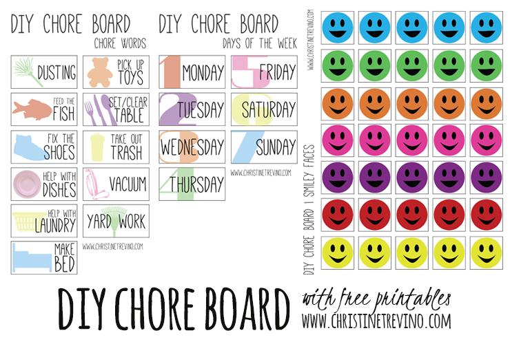 DIY Chore Board Printable Graphic