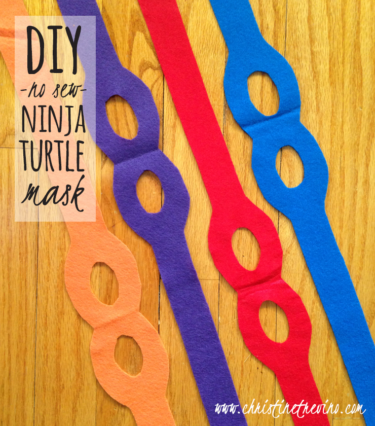DIY No Sew Ninja Turtle Mask With FREE Printable Pattern
