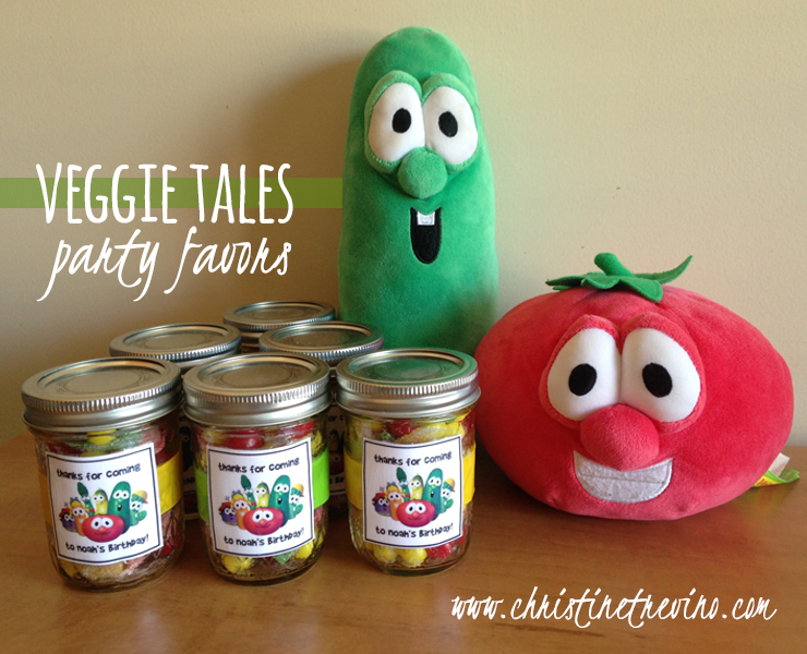 Veggie Tales Party Favors