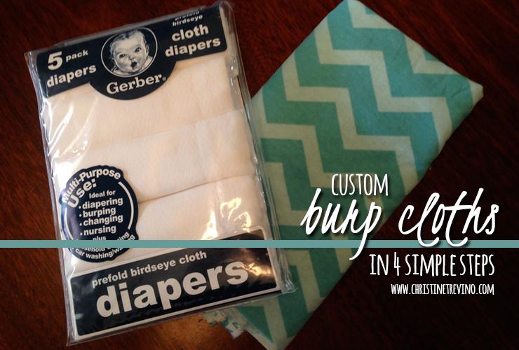Supplies for Custom Burp Cloths