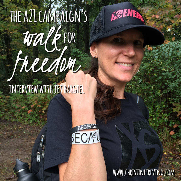 The A21 Campaign's Walk for Freedom | Interview with Jet Bargiel