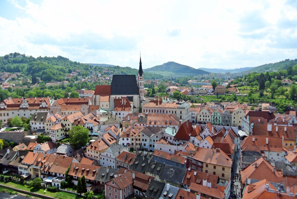 Aussicht Glockenturm Český Krumlov