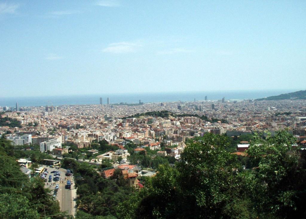 Aussicht vom Tibidabo Barcelona