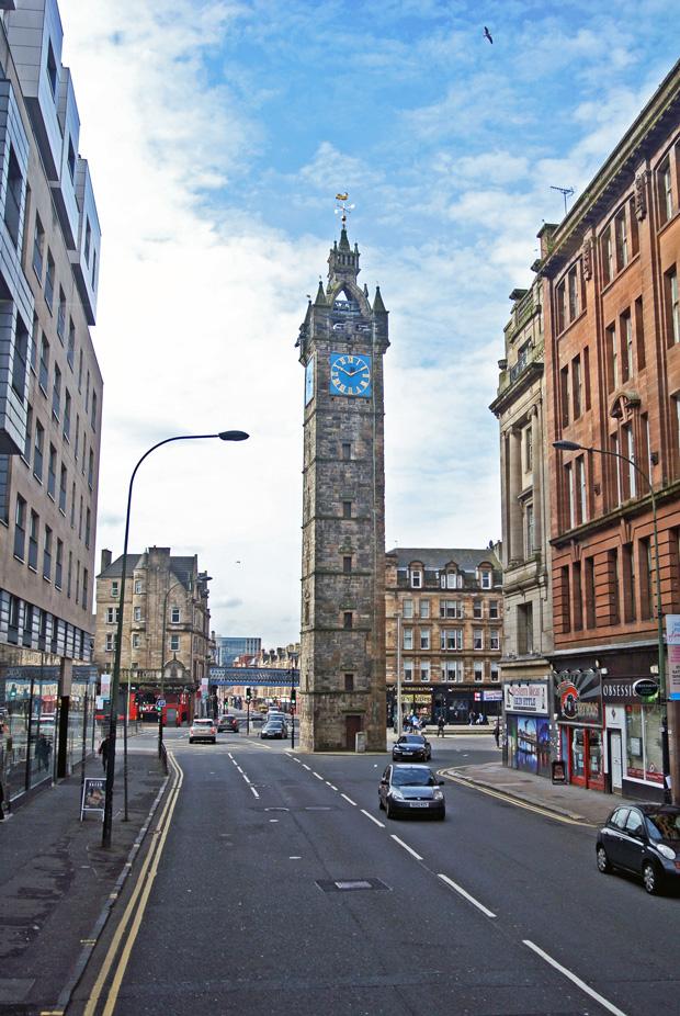 Glockenturm der Tolbooth von Glasgow