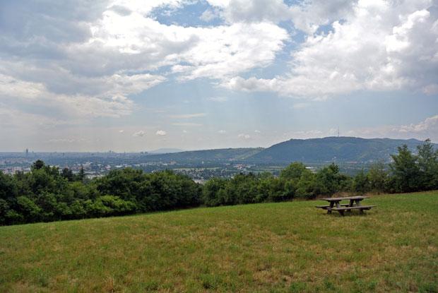 Ausblick vom Bisamberg auf Wien