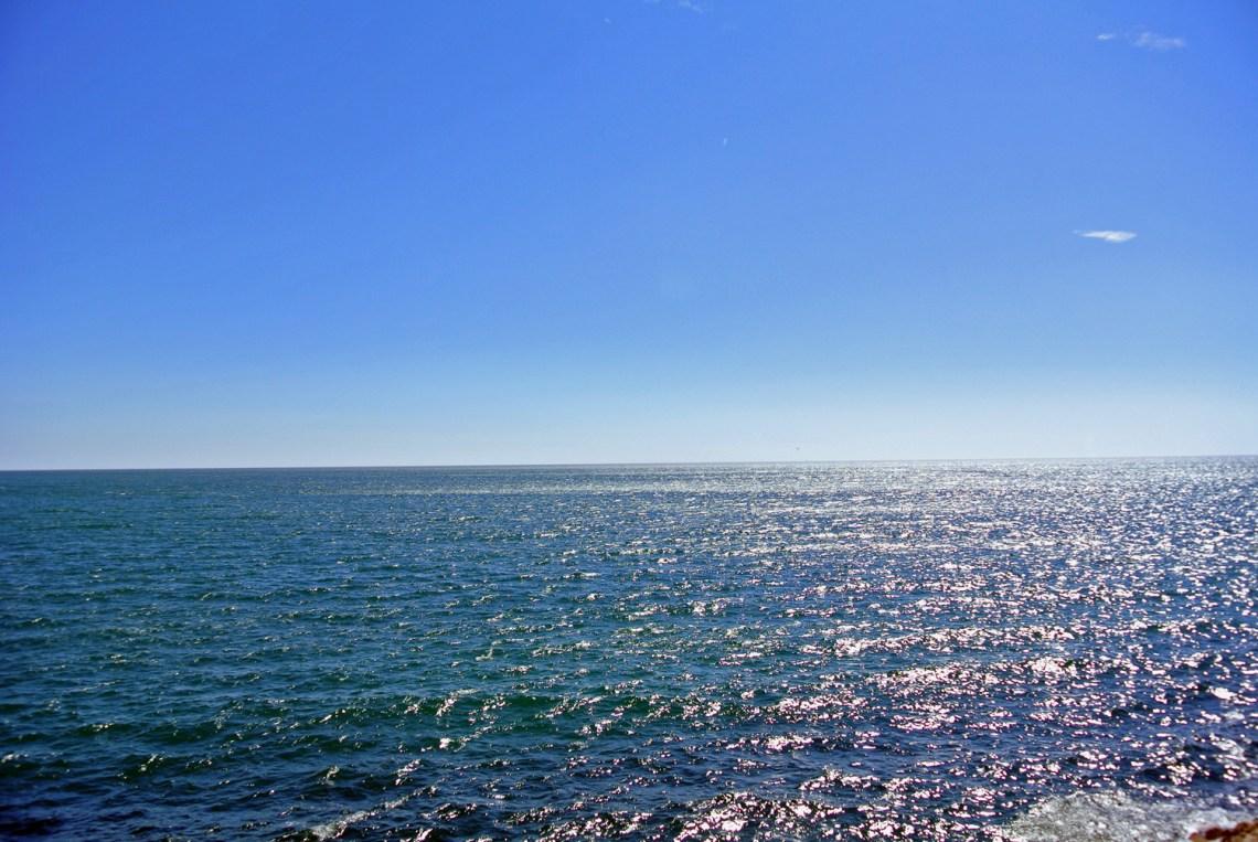 Blick aufs Meer in Cadiz, Andalusien in Spanien