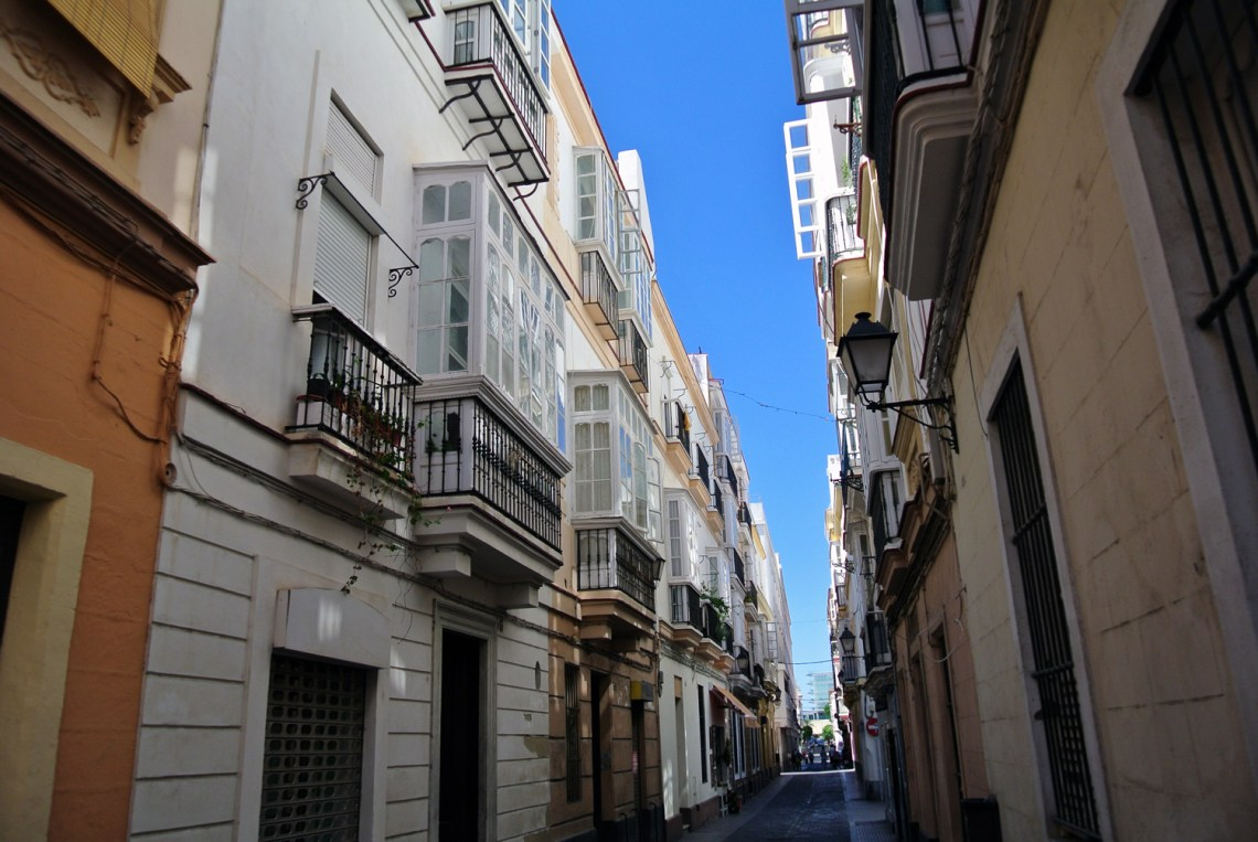 Straßen in Cadiz in Andalusien, Spanien