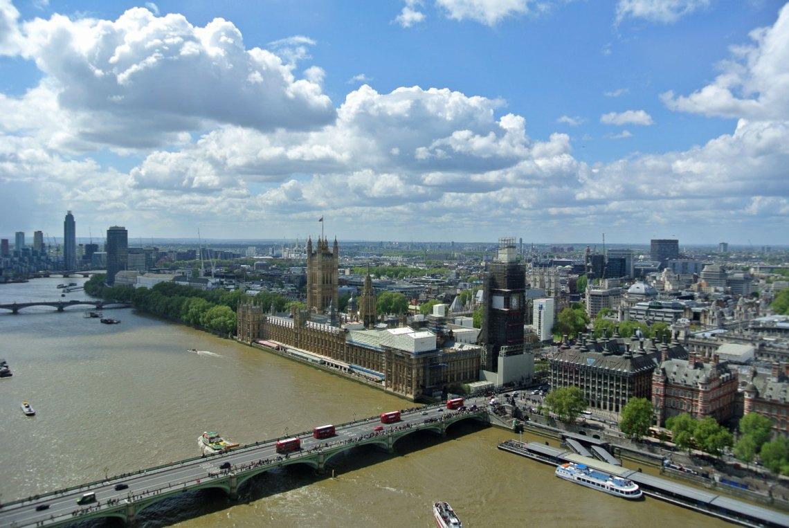 Aussicht vom London Eye