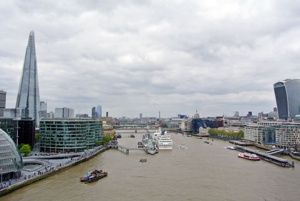 Aussicht von der Tower Bridge London
