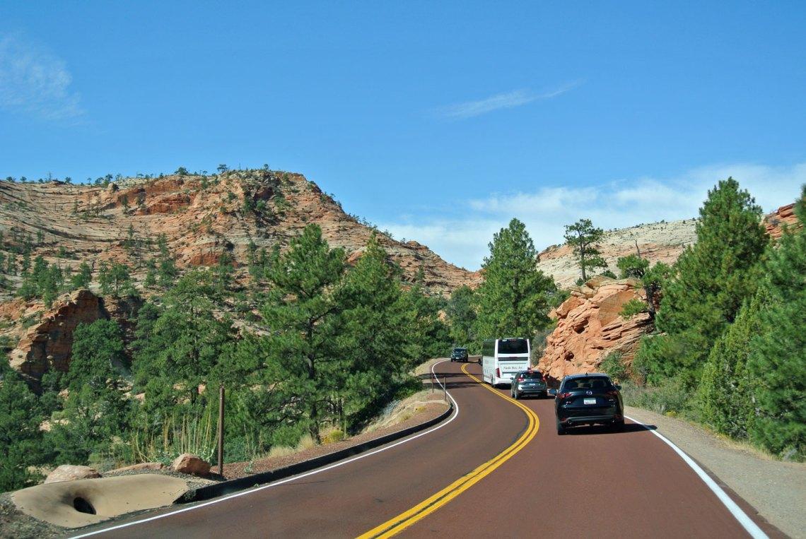 Fahrt in den Zion National Park