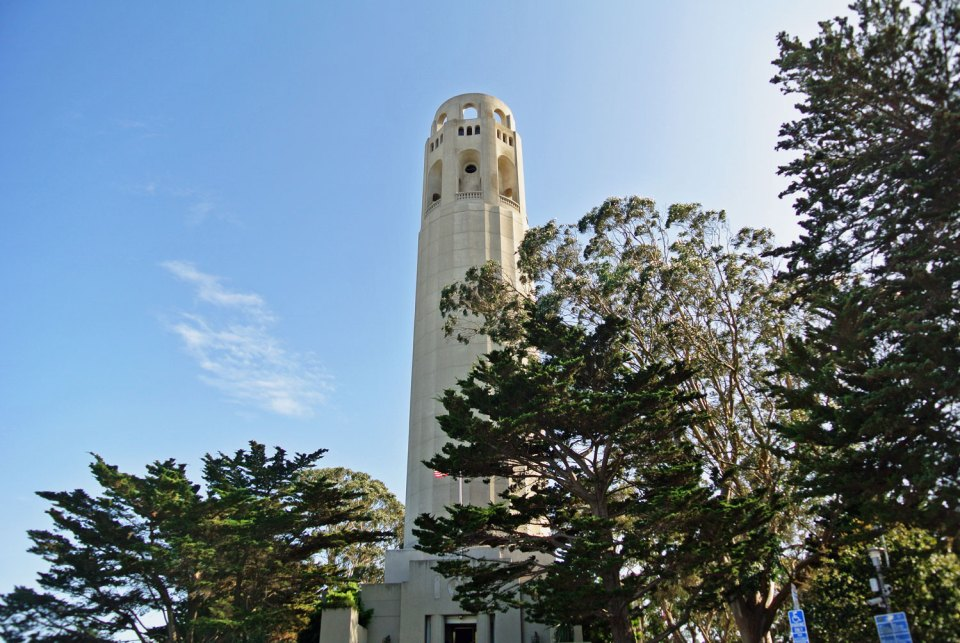 Coit Tower auf dem Telegraph Hill