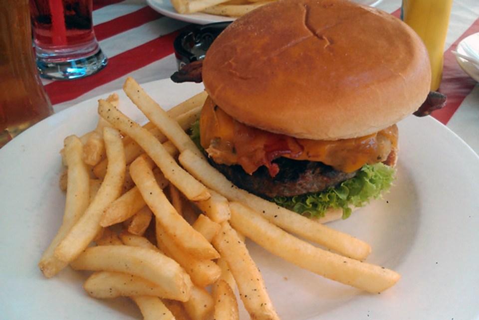 Burger im TGI Friday