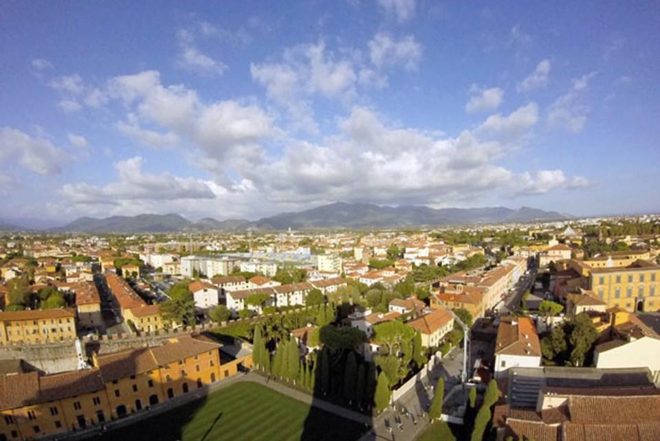 Ausblick vom Schiefen Turm