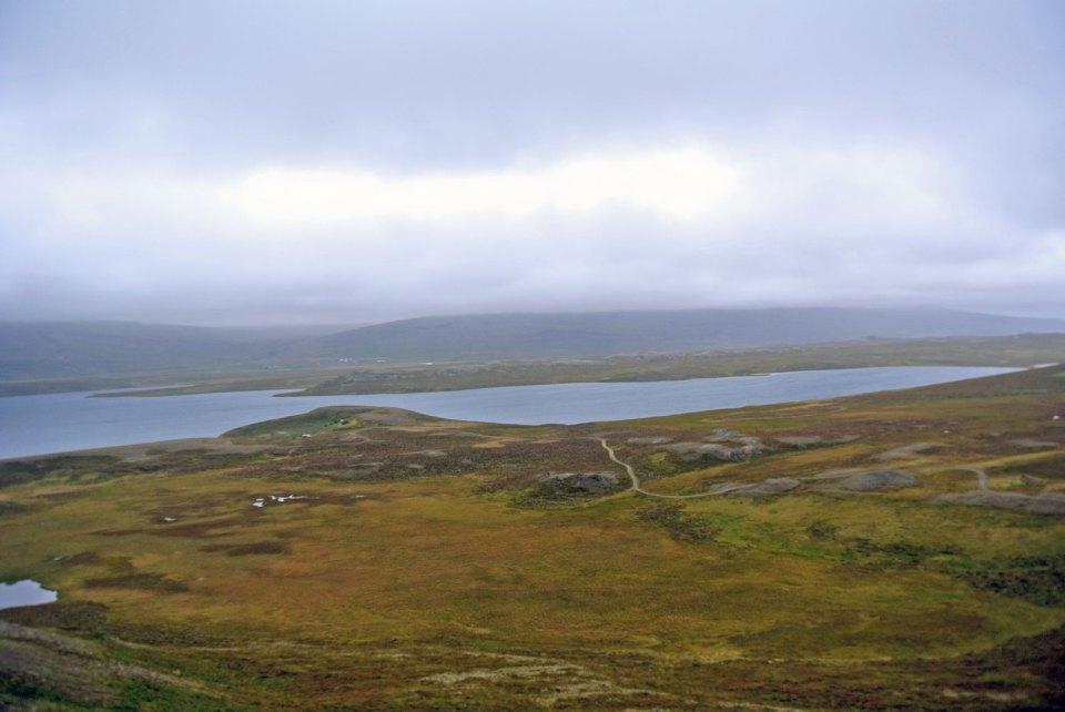 Ausblick von der Festung Borgarvirki Island