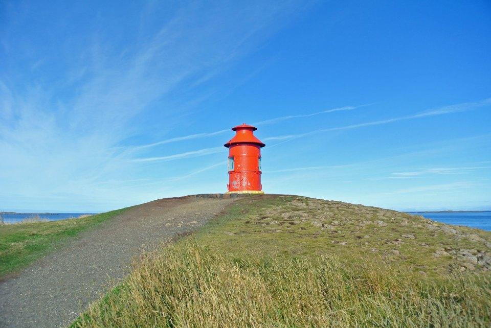 Leuchtturm in Stykkishólmur Snæfellsnes