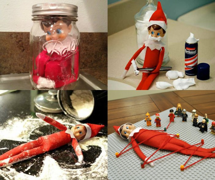 collage hiding places elf on the shelf