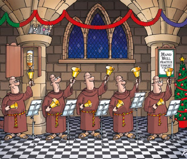 Humorous Monk Christmas Cards By Richard Skipworth