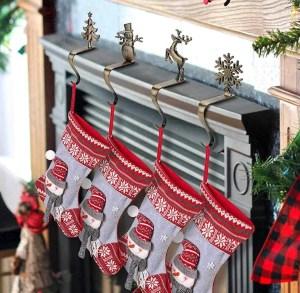 Christmas stocking holders set